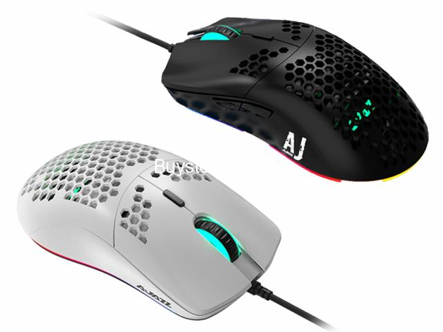 AJAZZ AJ390R Lightweight Honeycomb 10000 DPI Programmable 7 Buttons 69G RGB Wired Computer Mouse who - 3/6