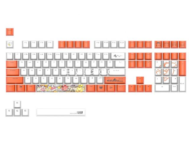 2020 New 114keys PBT Hot sublimation Wear-resistant keycaps with Custom OEM for Mechanical Gaming wh - 1/7