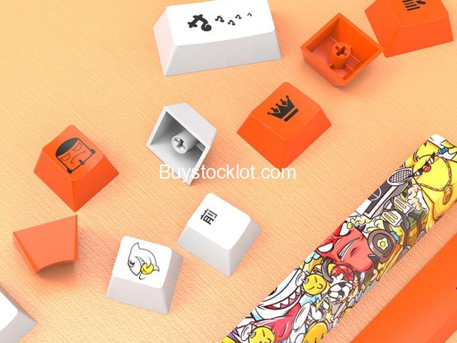 2020 New 114keys PBT Hot sublimation Wear-resistant keycaps with Custom OEM for Mechanical Gaming wh - 4/7