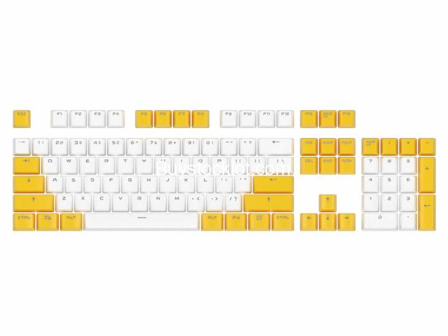 2020 New 114keys PBT Hot sublimation Wear-resistant keycaps with Custom OEM for Mechanical Gaming wh - 5/7