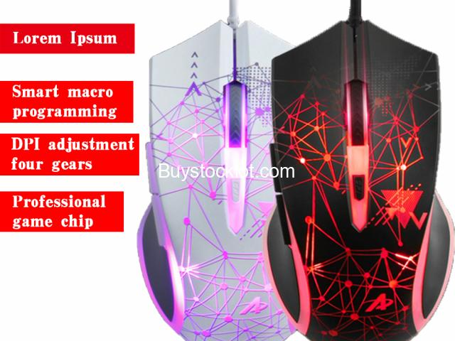 AJAZZ AJ119 Black E-sports Light RGB PC Wired Gaming Game Mouse For Player Gamer DPI Optical USB Mou - 2/6