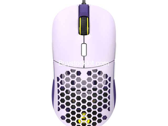 F15 RGB Honeycomb Gaming Mouse Ergonomic Design, Programmable Buttons 16000DPI Wired Lightweight Mic - 2/6