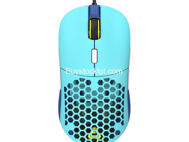 F15 RGB Honeycomb Gaming Mouse Ergonomic Design, Programmable Buttons 16000DPI Wired Lightweight Mic - 4/6