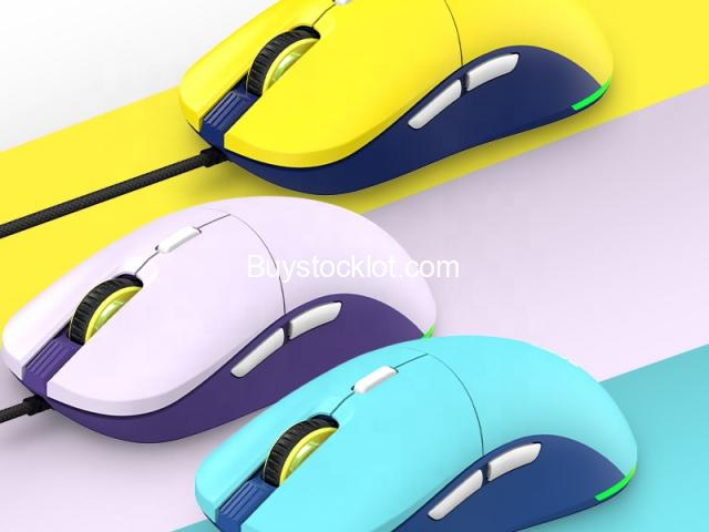 F15 RGB Honeycomb Gaming Mouse Ergonomic Design, Programmable Buttons 16000DPI Wired Lightweight Mic - 6/6
