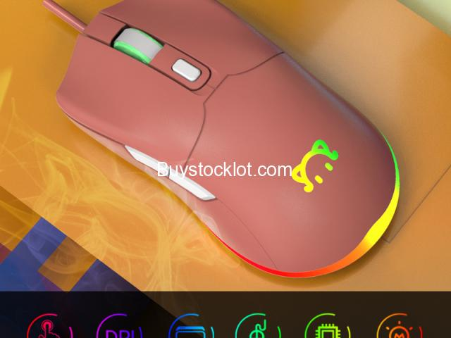New Dptical Gaming Mouse RGB Lighting Macro programming DPI custom wired mouse whole sale - 4/6