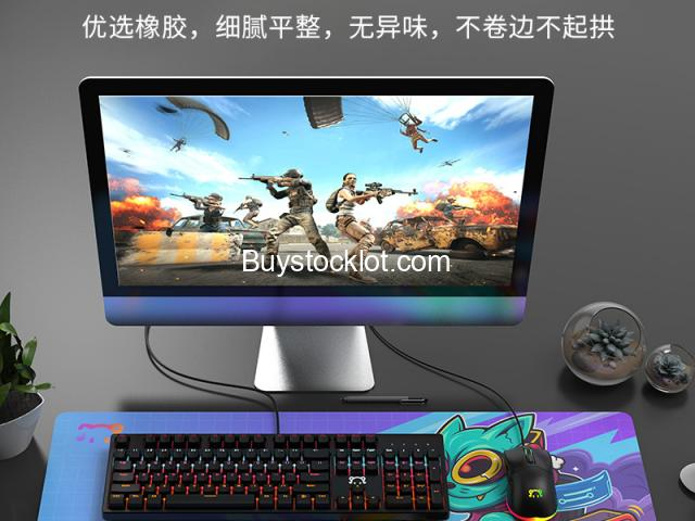 Large Mouse Pad Thickened Non-slip Waterproof Gaming Keyboard and Mouse Pad Suitable for OfficeGamin - 5/5