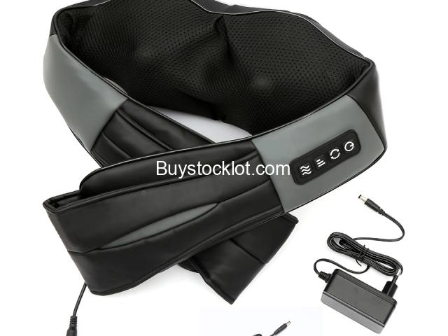 Most popular mini kneading therapy shiatsu electric pulse massager back and neck with heat whole sal - 3/6