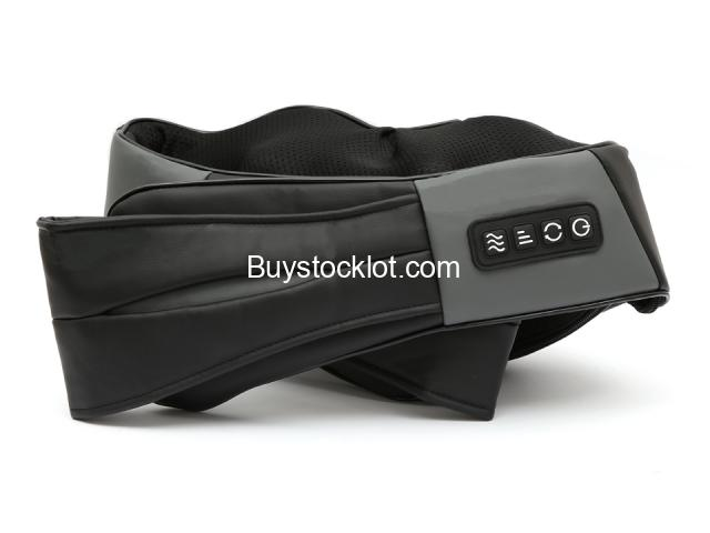 Most popular mini kneading therapy shiatsu electric pulse massager back and neck with heat whole sal - 4/6